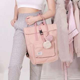 SALE • RooTote Ceoroo 2-Way Tote Backpack in Mauve Pink • Very Cute Light Pastel Pink • Used once only