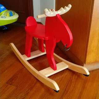 WOODEN HORSE ROCKER KIDS - AS GOOD AS NEW