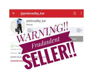 ‼️WARNING ‼️Fraudulent Seller