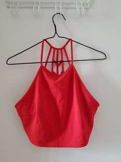 F21 Red Crop Top