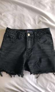 Black HDL jeans high-rise shorts