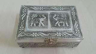 Silver engraved box from Sri Lanka @ S$5