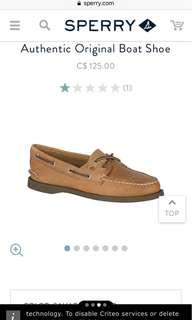 sperry original authentic boat shoe women's size 6
