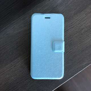 iPhone 8 flap over baby blue case. New