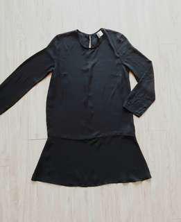 Divided Black See Through Dress