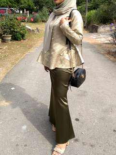 Brocade Peplum with Satin Skirt #FASHION100