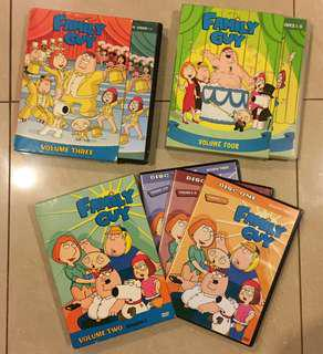 🤪FAMILY GUY DVD Sets(Volumes 2,3 & 4)