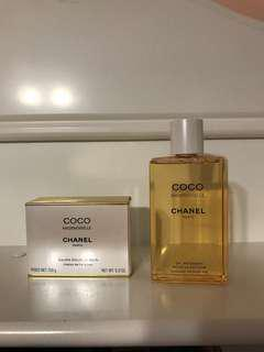 Chanel soap bar and shower gel