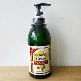 橄欖營養沐浴露1000ml Nature's Green olive & vitamins bath gel
