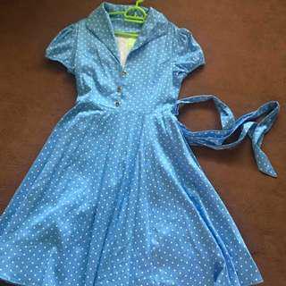 Vintage blue dress (BNWT)