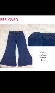 Jeans Cutbray Vintage 90'an