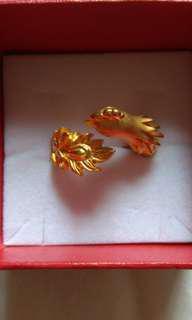 999 24k phoenix Gold Ring