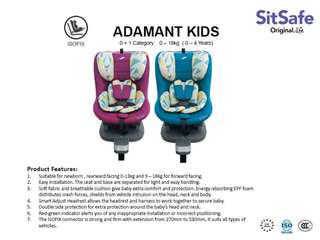 Sitsafe adamant isofix carseat by little bean