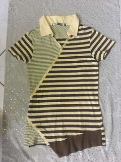 Authentic Brown and Yellow Oxygen Polo Shirt