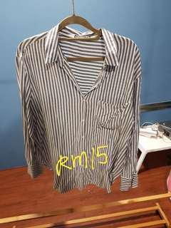 Bershka Stripe Shirt Size S ( slightly oversize )