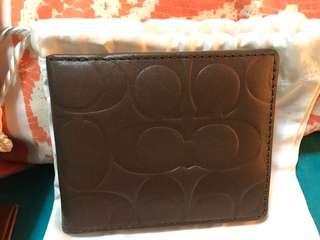 Authentic coach wallet for men