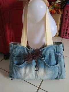 Tote bag jeans/tas wanita