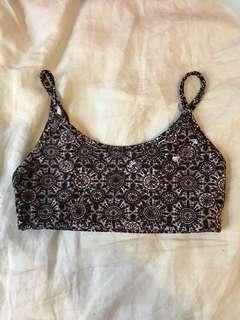 Cotton on body yoga crop sports top size XS