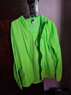 Oversized fluro sports/rain jacket