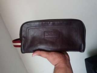 Authentic Bally Brown Leather Pouch