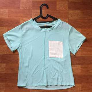 Minty green top