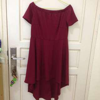 Dress sabrina maroon