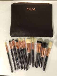 15PCS ZOEVA makeup cosmetic rose gold brushes