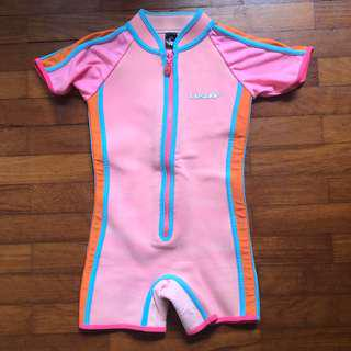 LRsurf LR surf thermal pink swimming suit