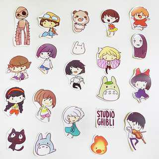 🚚 Studio Ghibli Stickers (Spirited Away, Ponyo, Howls Moving Castle, Totoro etc.)