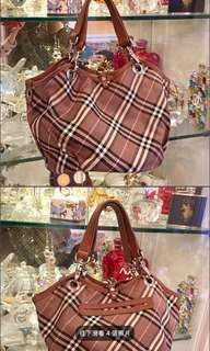 🚚 Burberry經典格紋手提包肩背包
