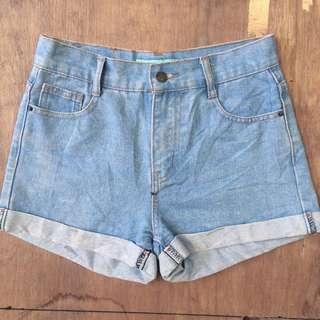 Midrise Denim Shorts