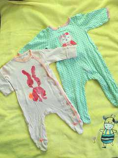 Carter's Sleepsuit 6-9 months 2 for 120.00