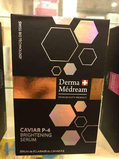 瑞士 Derma medream royal intense youth serum, DNA repair anti-glycation serum, oxygen breath skin renew emulsion, caviar P-4 brightening serum 精華。一年期,香港行貨,衹在醫生診所發售。
