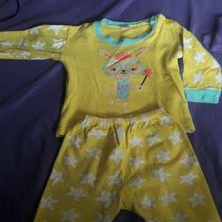 preloved piyama anak bayi perempuan / laki2 / unisex / baju tidur