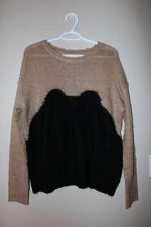 Forever 21 Khaki Wool Sweater