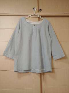 日本M.M.O淺藍上衣