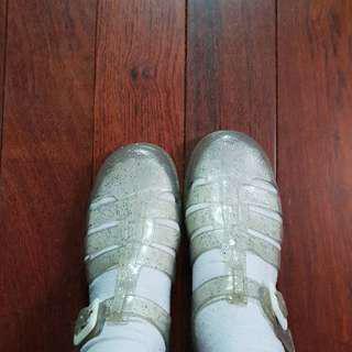 二手 含運 英國 JuJu 果凍鞋 雨鞋 透明