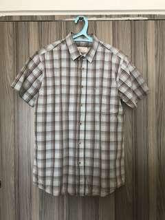 Bench short sleeve polo checkered medium size