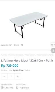 Lifetime Meja Lipat beli langsung  Di Ace Hardware