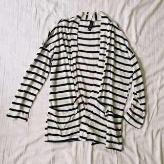 FACTORIE STRIPED CARDIGAN