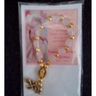 Mini Gold Pocket Rosary Souvenir and Giveaways for wedding baptismal