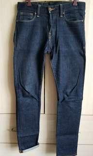 H&M denim jeans Unwash 男裝牛仔褲