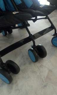 Branded double stroller for sale (like new!)