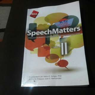 Gr8 Speech Matter Book