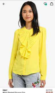 ONLY Milan Pleated Flouncy Top