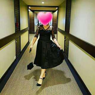 Black dress medium