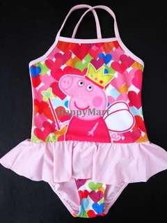 New Girls Kids Peppa Pig swimsuit 女童一件頭泳衣