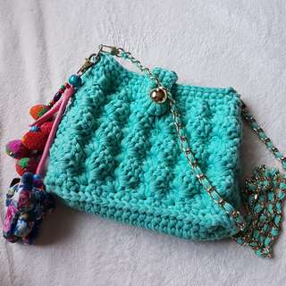 Crocheted Crossbody Bag