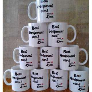 White Mug with print Souvenirs and Giveaways for wedding,baptismal,birthday
