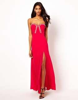 Lipsy VIP Jewel Bodice Maxi Dress with Thigh Split 晚裝